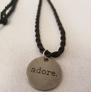"""'Adore' stainless steel 18"""" charm necklace"""